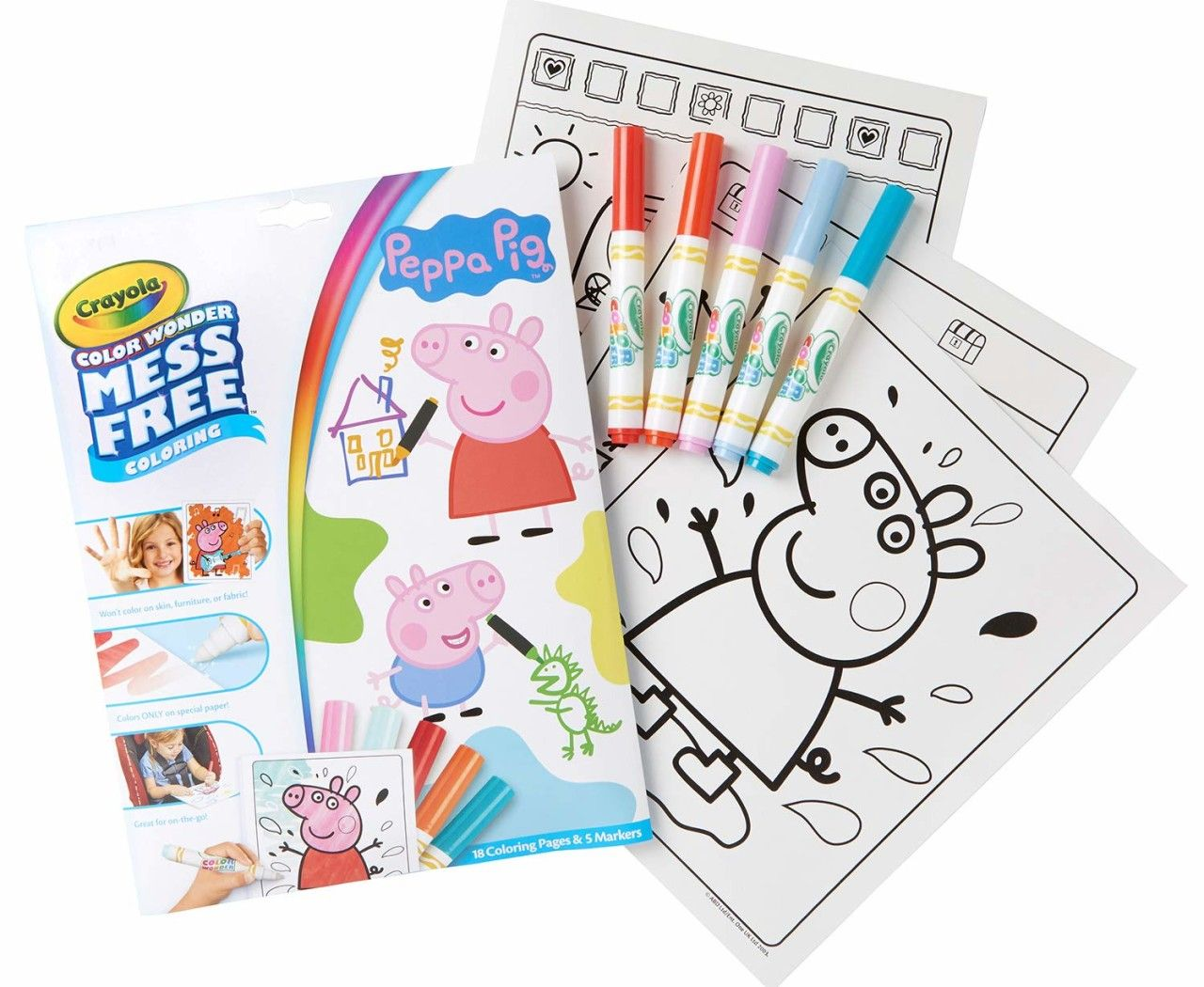 Crayola Color Wonder Peppa Pig Coloring Book Pages Markers Only 4 75 Become A Coupon Queen Peppa Pig Colouring Peppa Pig Coloring Pages Color Wonder