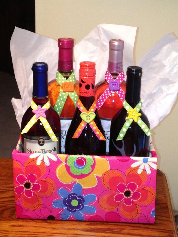 Wine Raffle Basket Gifts Under 50 Wine Basket Things To Try Pinterest Raffle Baskets