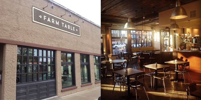Front View And Interior Of Farm Table Restaurant Northern WI - Farm table amery
