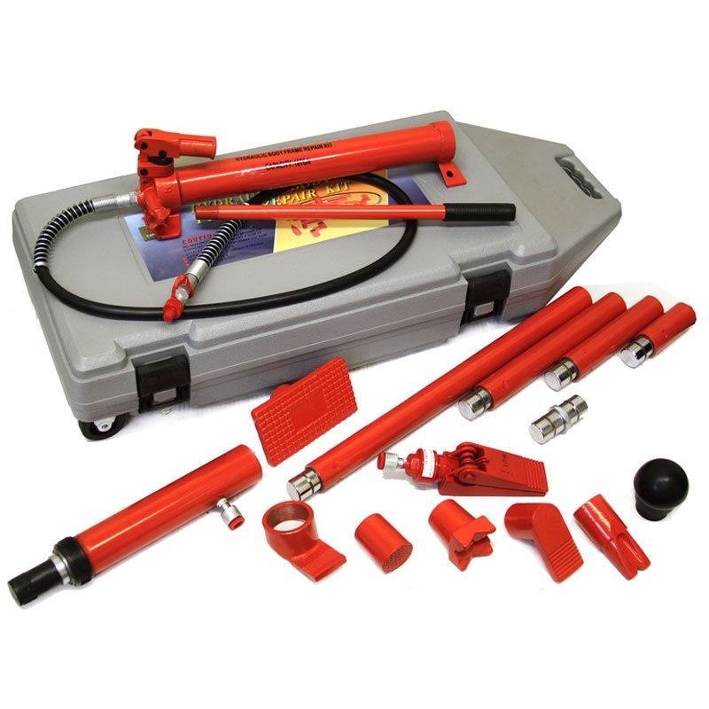 10 Ton Porta Power Hydraulic Jack Body Frame Repair Kit Auto Shop Tool Lift Ram Car Shop Repair Hydraulic