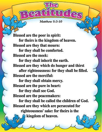 The Beatitudes Cards. 8 Printable Cards for kids to learn the ...