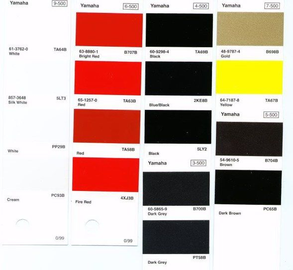 Yamaha Wiring Color Code