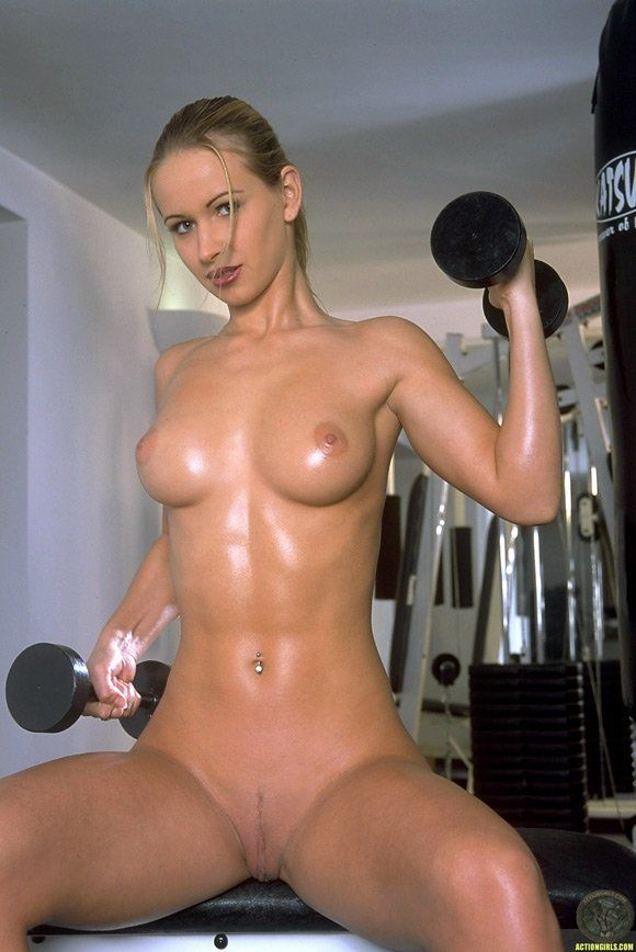 She works out naked