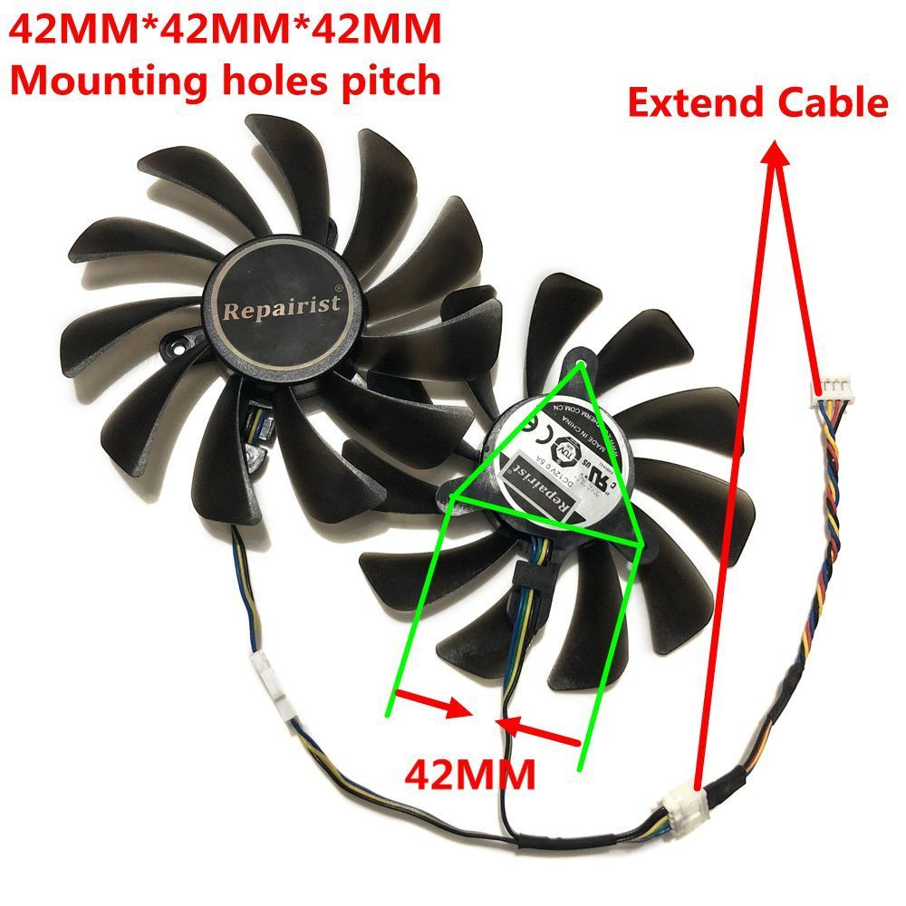 Zotac Geforce Gtx 1070 Ti Amp Edition Gpu Vga Cooler Cooling Fan