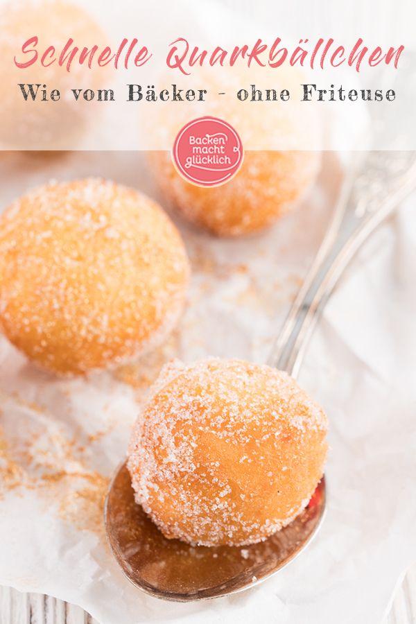 Quarkbällchen wie vom Bäcker | Backen macht glücklich #pumpkinmuffins