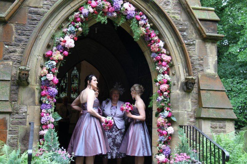 Flowers Over Church Door Wedding Dresses Wedding Decorations Bridesmaid Dresses