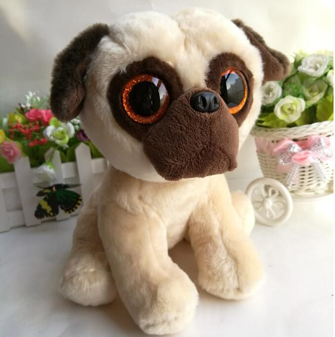 Kawaii Ty Plush Animals Kids Toys Big Eyes Pug Dog Dolls Rufus Gifts Toy  Shops one a6bda06d3