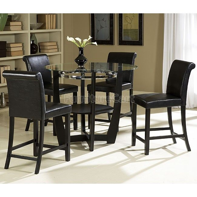 Sierra Counter Height Dining Room Set Counter Height Dining Table Set Glass Round Dining Table Dining Table Black