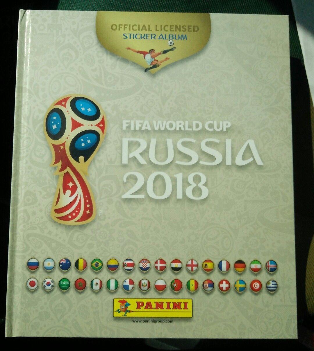 Panini 2018 Wc Wm Fifa World Cup Russia Empty Sticker Hardcover Album White Rare Please Retweet Balompie Compras