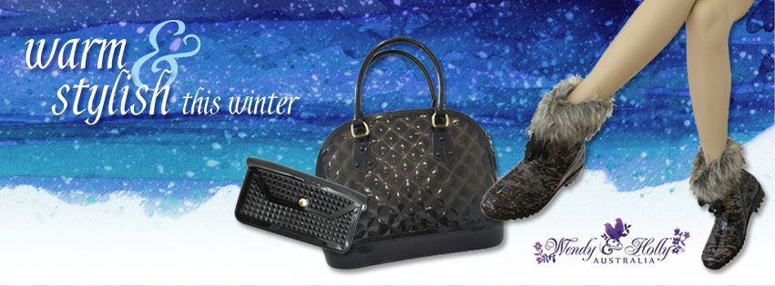 Get Warm & Stylish for Winter. Match your Jelly Bag with your Jelly Shoes. http://www.wendyhollyshoes.com.au/