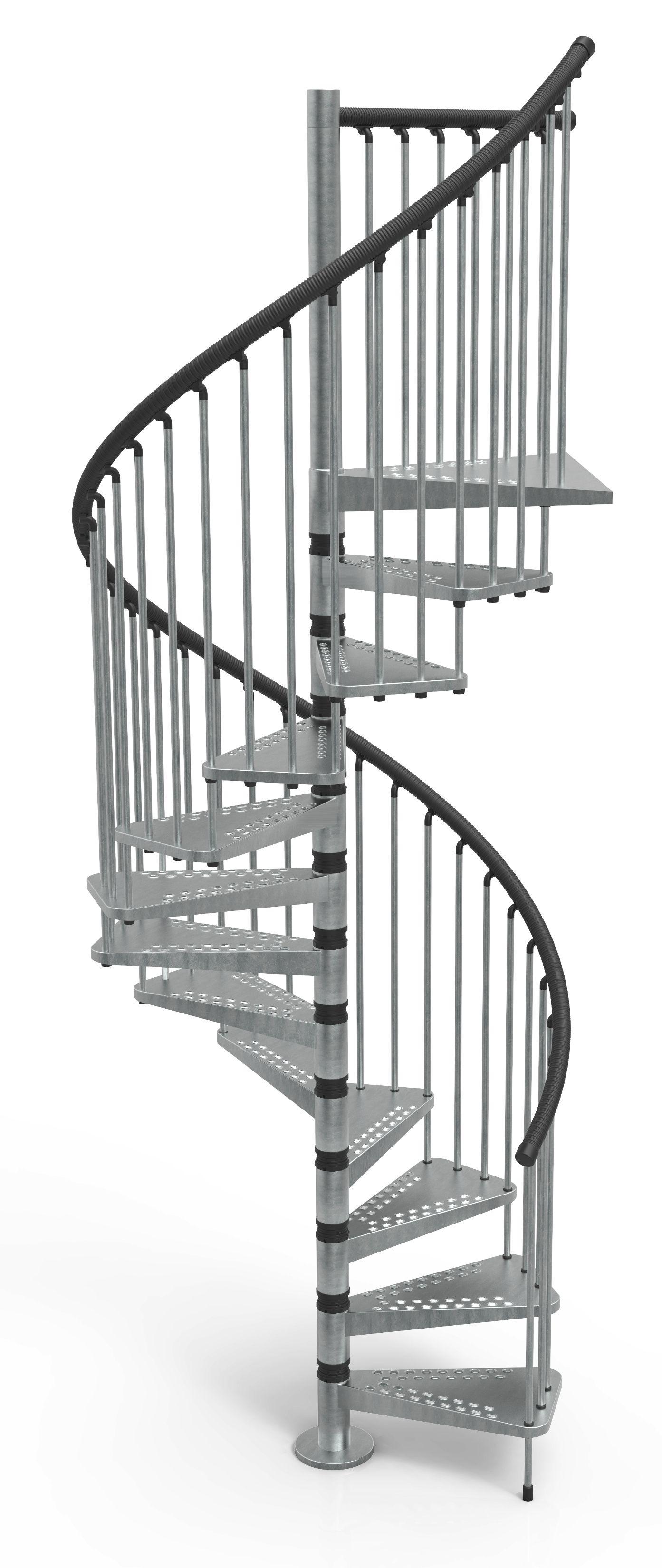 Best Misterstep Exterior Zink Spiral Stair Kit Stair Kits 400 x 300