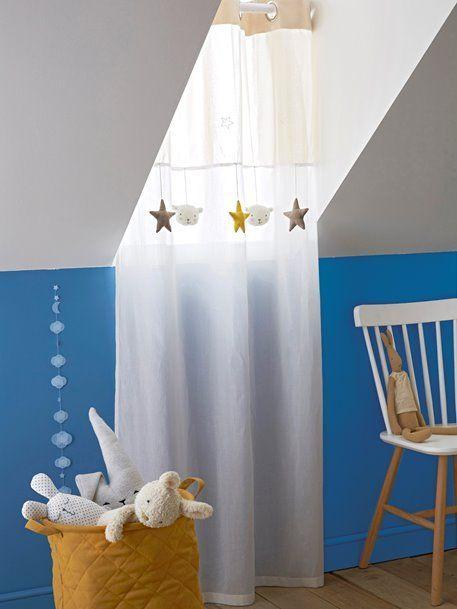 Leichter Kinderzimmer Vorhang Ösen Weiß Beige 4 In 2020