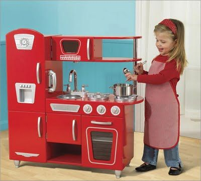 Indulge The Culinary Imagination Of A Little Through Kidkraft Retro Kitchen Ideal Housewife Is Made Cool Again