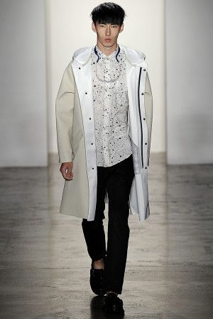 At Patrik Ervell, a Sleek New Spin on the Classic Raincoat for more fashion and beauty advise check out The London Lifestylist http://www.thelondonlifestylist.com