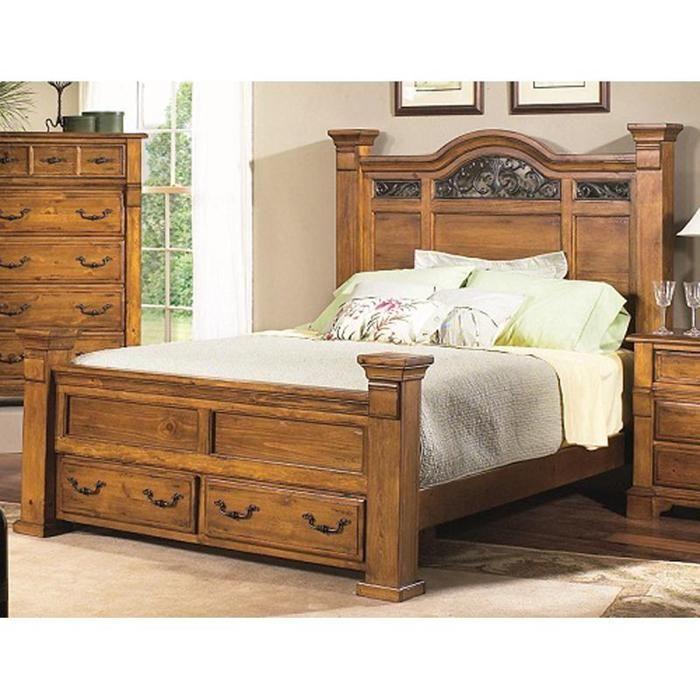 San Juan King Storage Bed in Tuscan Pine | Nebraska Furniture Mart ...