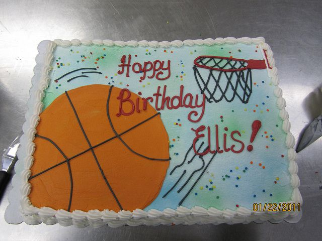 Basketball Sheet Cake Birthday Sheet Cakes Basketball Cake 10 Birthday Cake