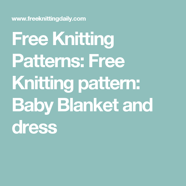 Free Knitting Patterns Free Knitting Pattern Baby Blanket And