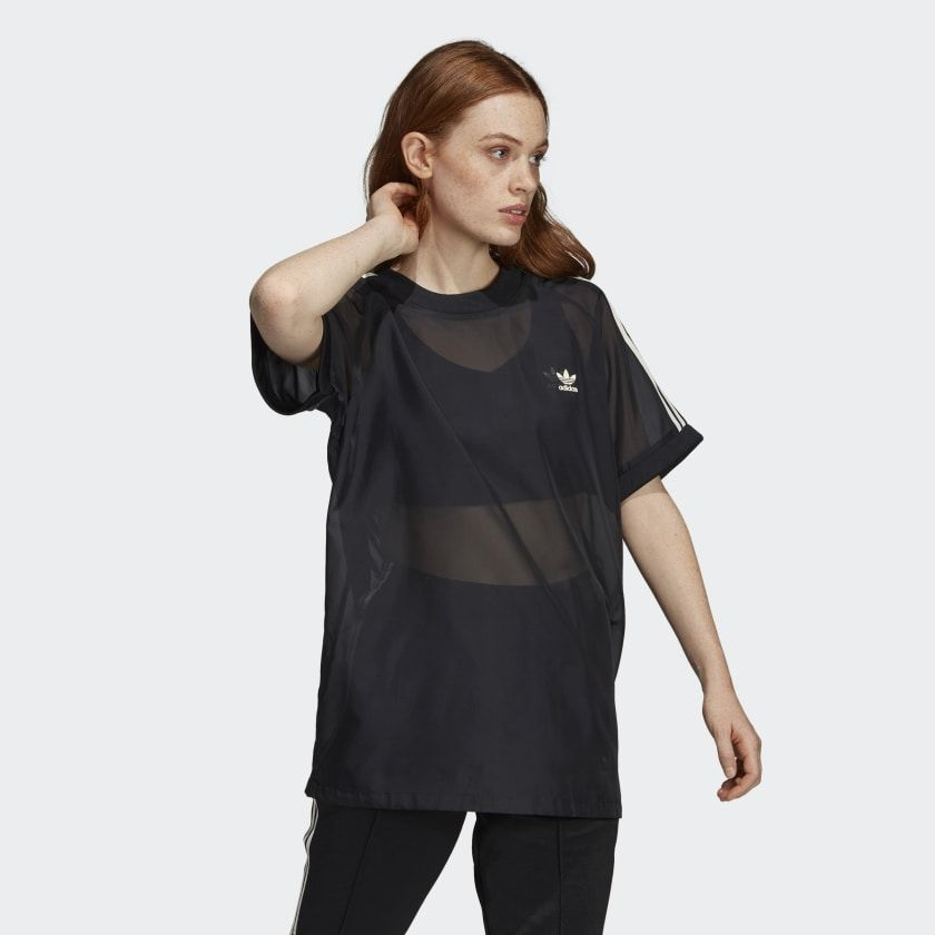 adidas T Shirt 3 Stripes W medium grey 38 | GALERIA Karstadt