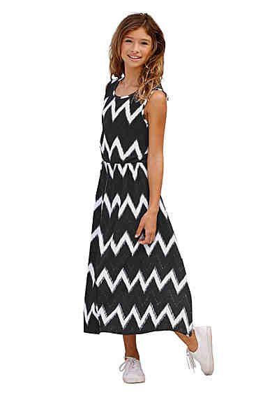 4cda5dd9375dc5 Arizona Jerseykleid allover bedruckt, für Mädchen | kleider maryam ...