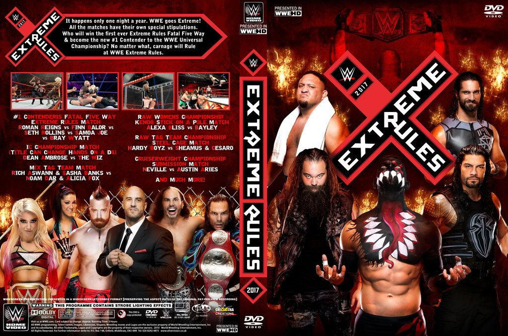 WWE Extreme Rules 2017 DVD Cover by Chirantha | WWE ...