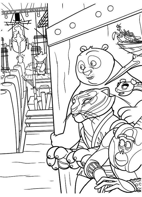 Guarda Tutti I Disegni Da Colorare Di Kung Fu Panda Www