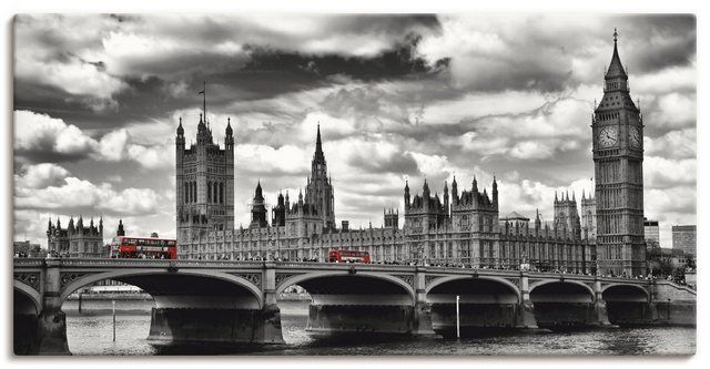 Photo of Artland canvas print »M. Viola: London Westminster Bridge Red Buses « OTTO
