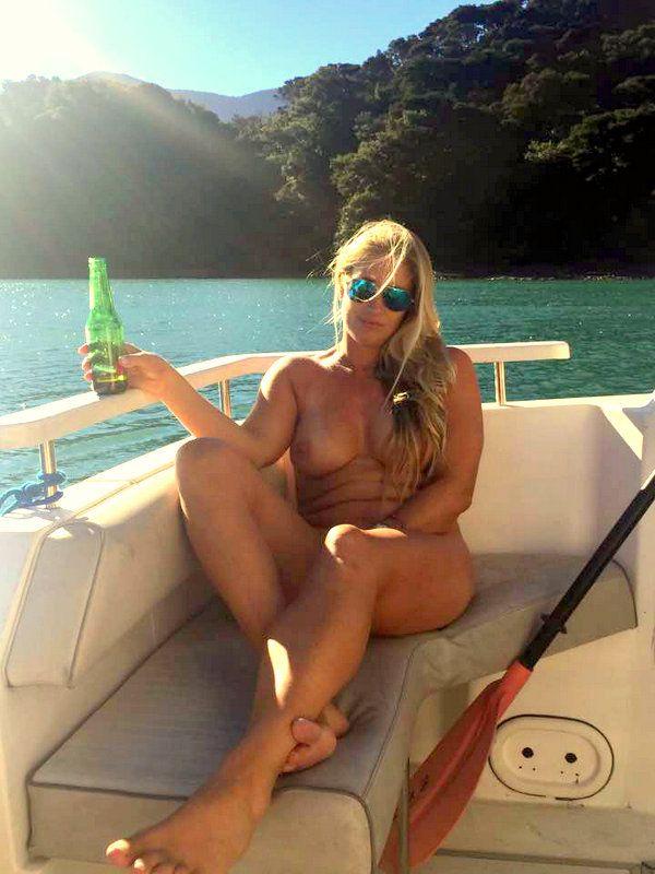 naked women on boat