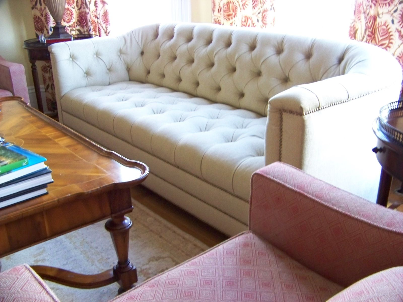 custom made catherine curved back tufted sofa living room rh pinterest com