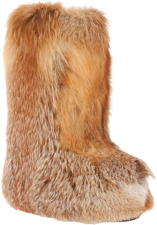 417f01d4c70 Liska Fox fur boot on shopstyle.com | Winter gear in 2019 | Fox fur ...