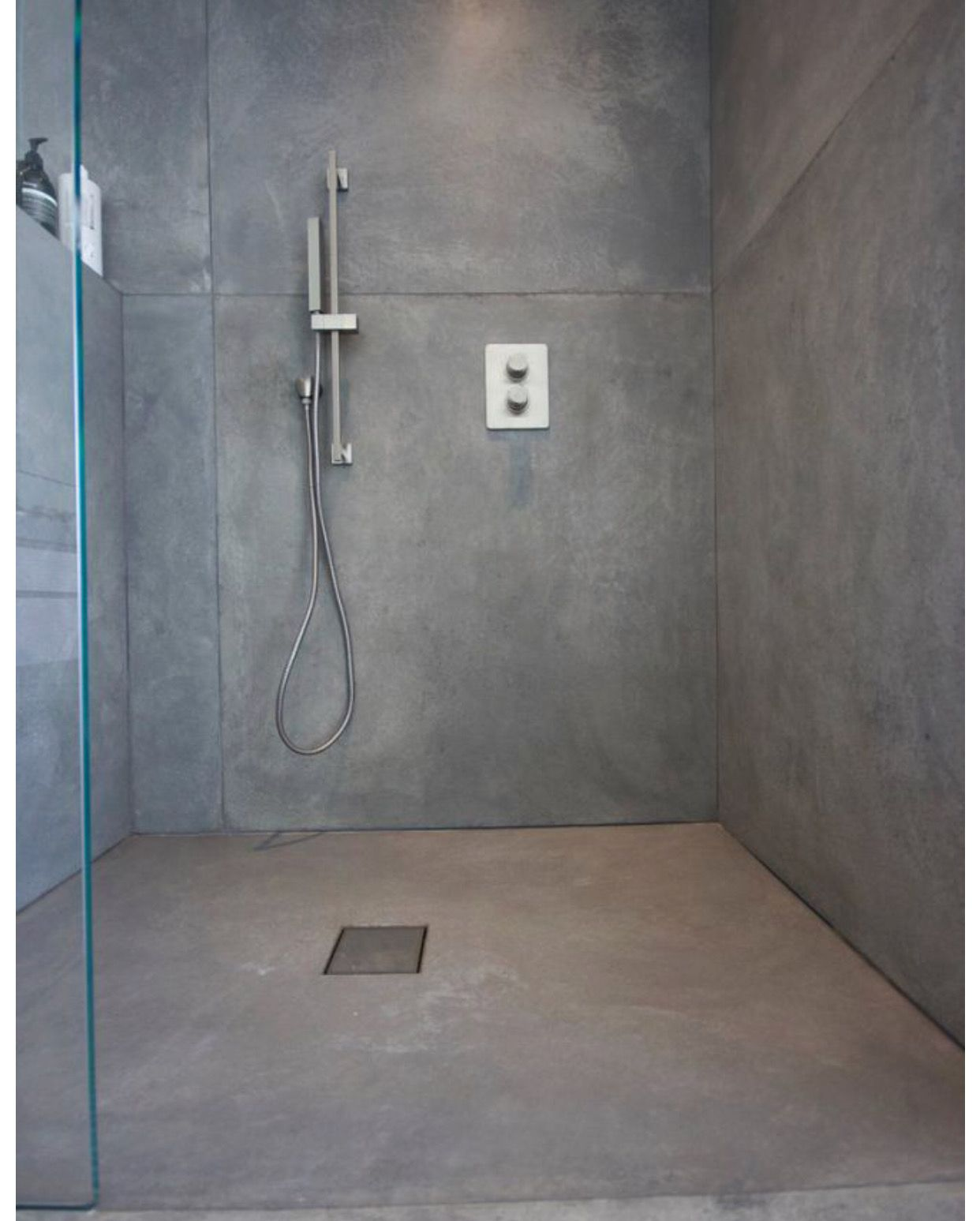Cement Pool House Shower Concrete Shower