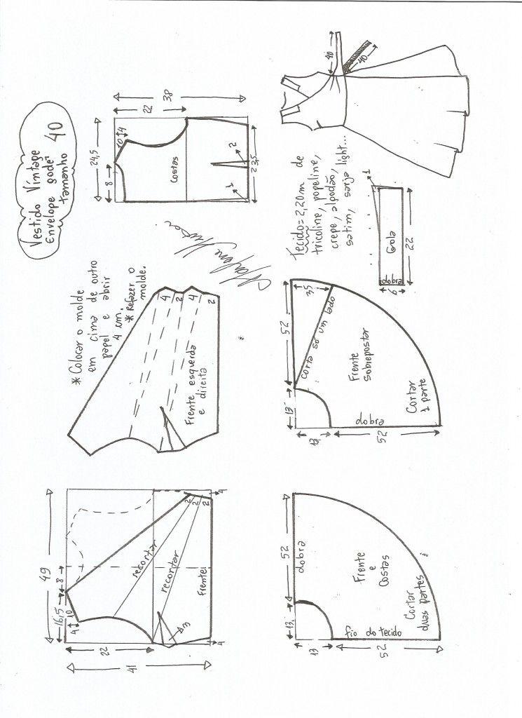Vestido Vintage Envelope | Costura, Molde y Patrones