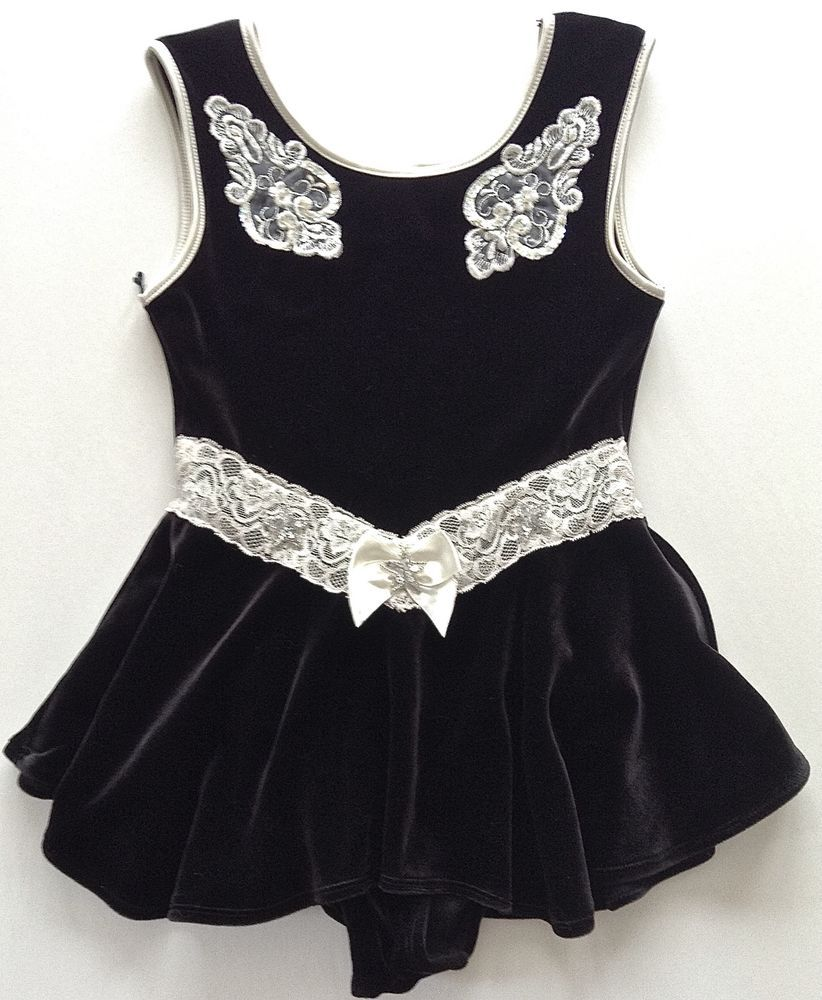 b686fe0c998e MORET Sequin Velvet Lace Figure Skating Dress Dance Costume Girls ...