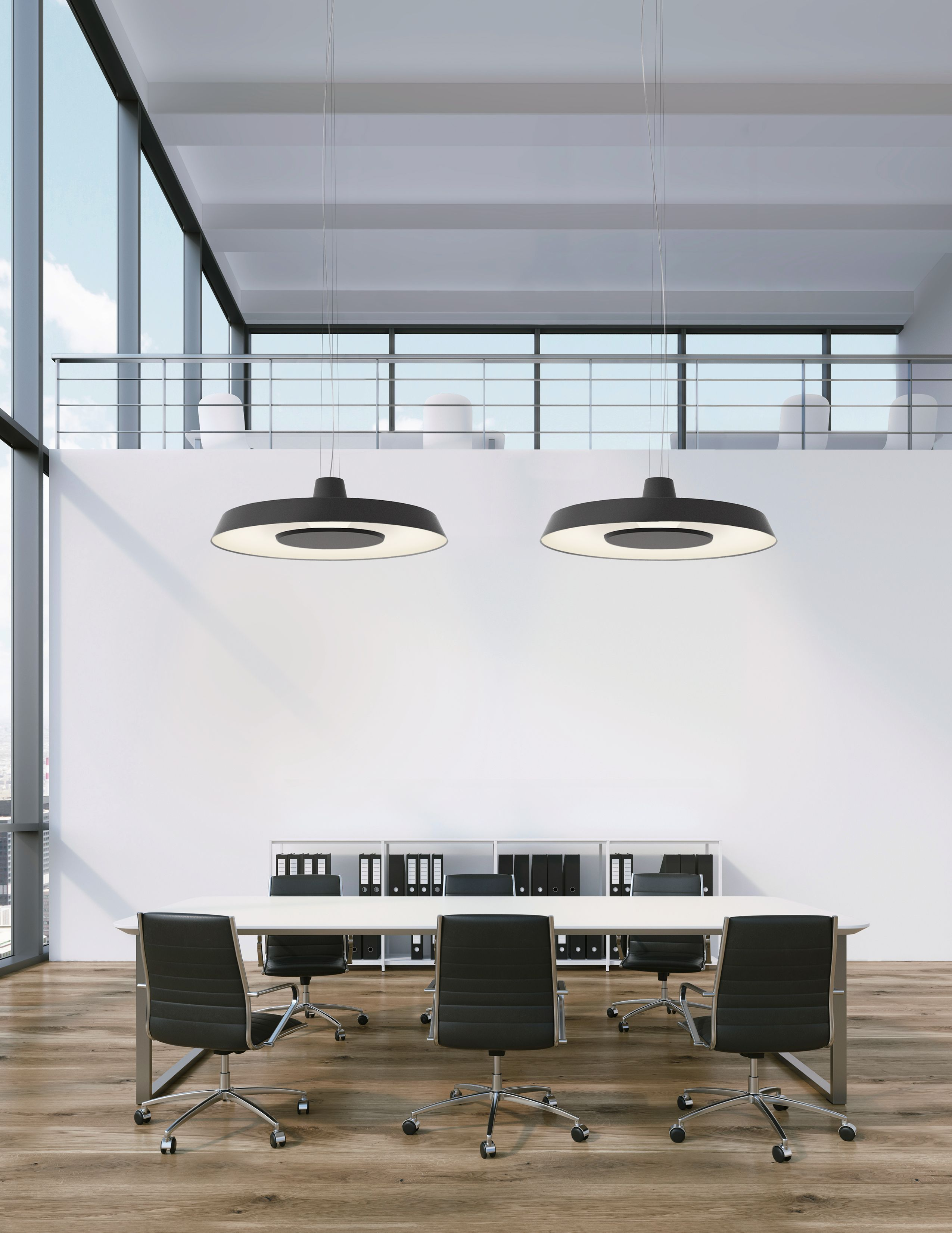 Flynn under this large size shade with straight imposing lines imposing lines hides a reflector with soft curves and a generous personality a concealed led light source underneath the fixture projects a soft and arubaitofo Images