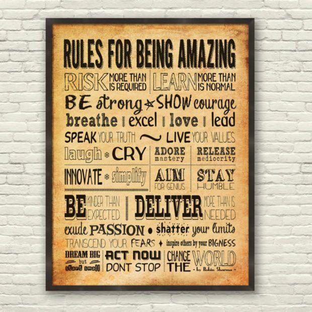 Motivational Wall Decor Inspirational Print Robin Sharma Success ...