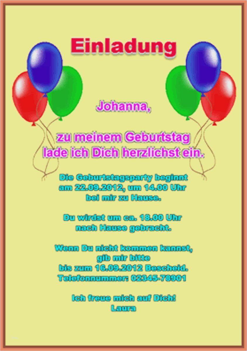 Einladung 10 Geburtstag Einladung Kindergeburtstag Text