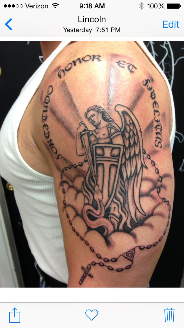 Pin On Saint Michael Tattoo