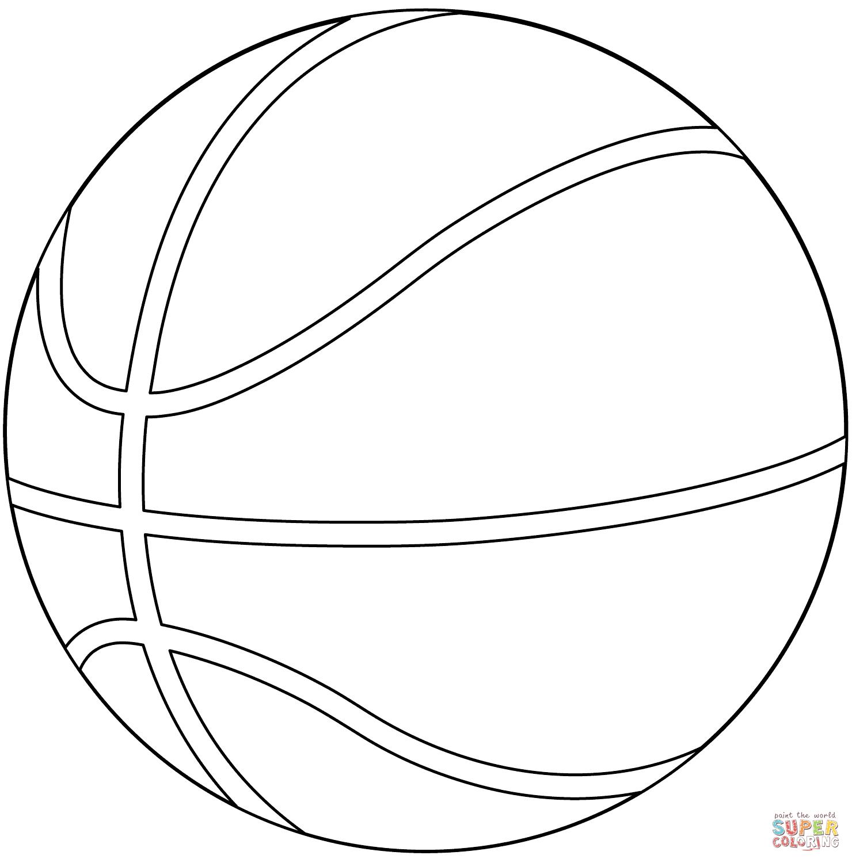 Dibujo De Balón De Baloncesto Para Colorear Dibujos Para