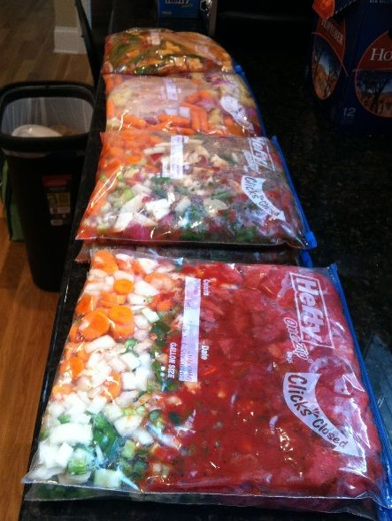 Freezer Kits for Crockpot Meals- this is our meals this week Yuumo