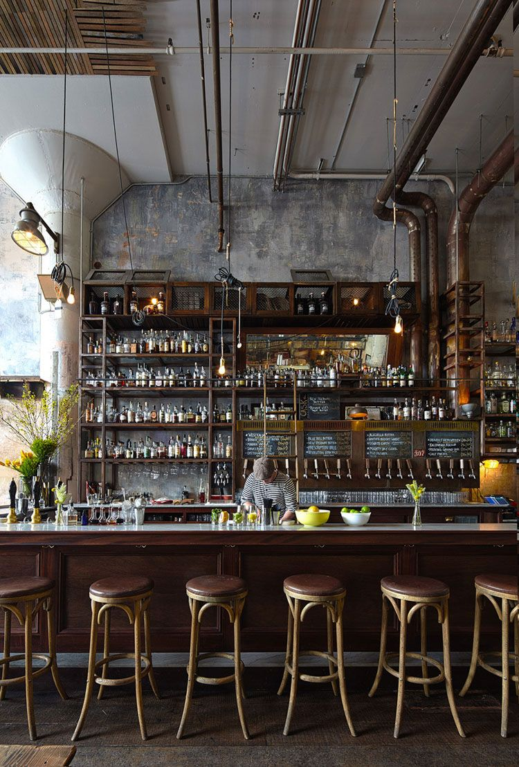 In Sf S Restored Smokestack At Magnolia Brewing A Trip Back In Time Back Bar Design Bar Interior Design Bar Design Restaurant