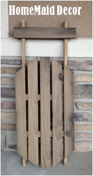 Day 10 Make A Decorative Sled Pallet Creations Christmas Wood