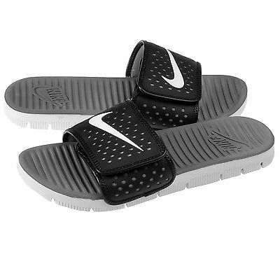 7f4e90693405 Nike Flex Motion Slide Mens 642446-010 Black Grey Sandals Sport Slides Size  8