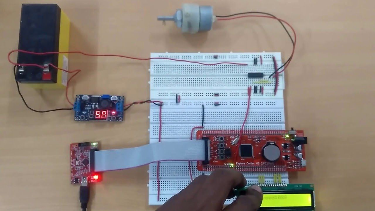 DC motor control using PWM of LPC1768 | ARM Tutorial & Projects