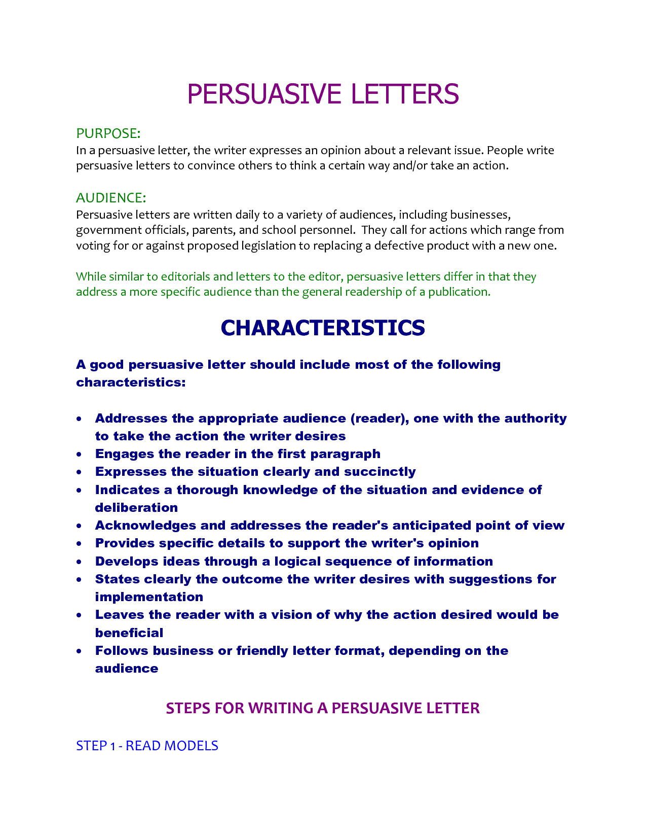 Persuasive Letter Template For Kids Michalis Panteleou  Education
