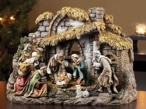 "$115.00-$150.00 10pc St 11"" Nativity W/Stable"