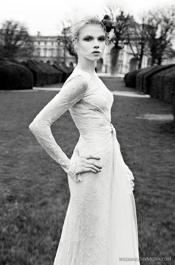 wedding #dress #sleeves #lace #interesting #fashion #long #modest ...