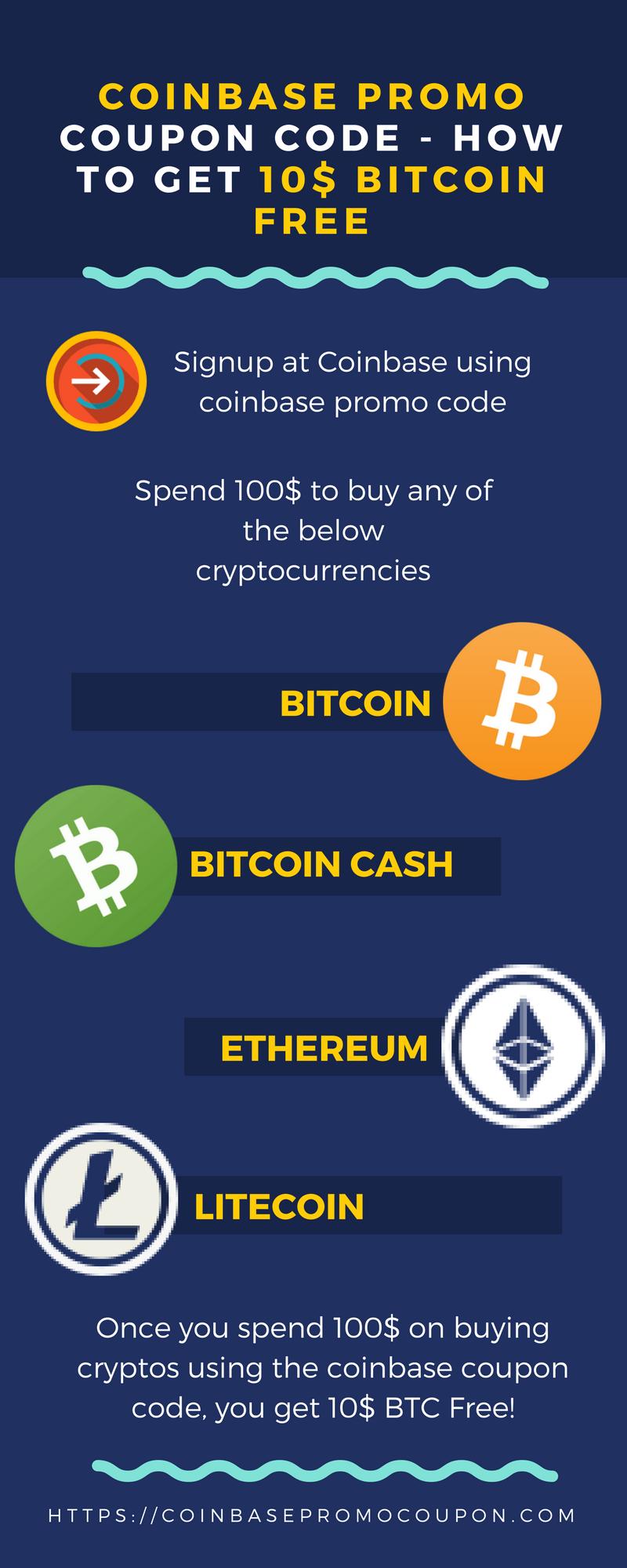 Coinbase Promo Coupon Code -How to Get 10$ Bitcoin Free