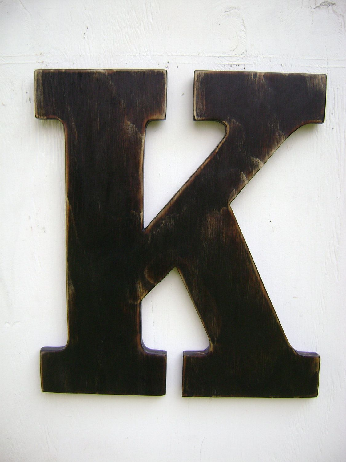 Large Wood Letter K Shabby Chic Wall Hanging Decor 18 Tall 52 00 Via Etsy