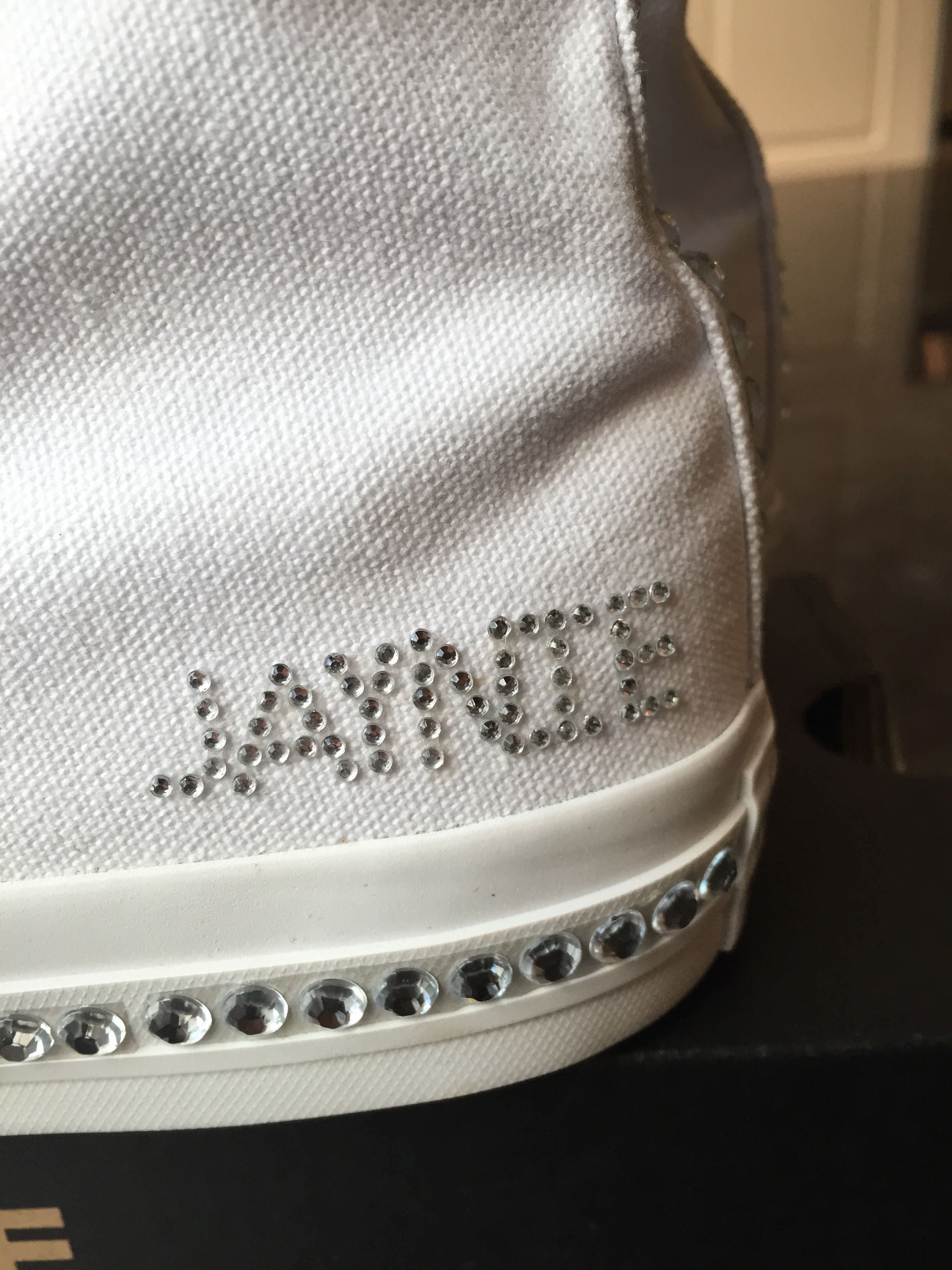 Custom Bling Converse sneakers for your special day! Bat Mitzvah ... e3c0a16081