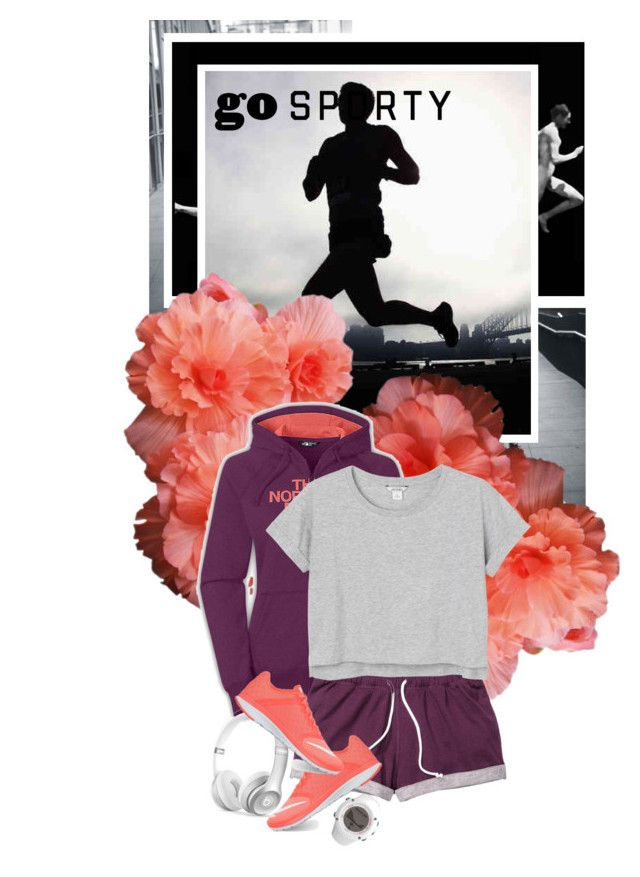 """""""Sporty Style"""" by saraishi ❤ liked on Polyvore featuring The North Face, Monki, NIKE, Beats by Dr. Dre and Suunto"""