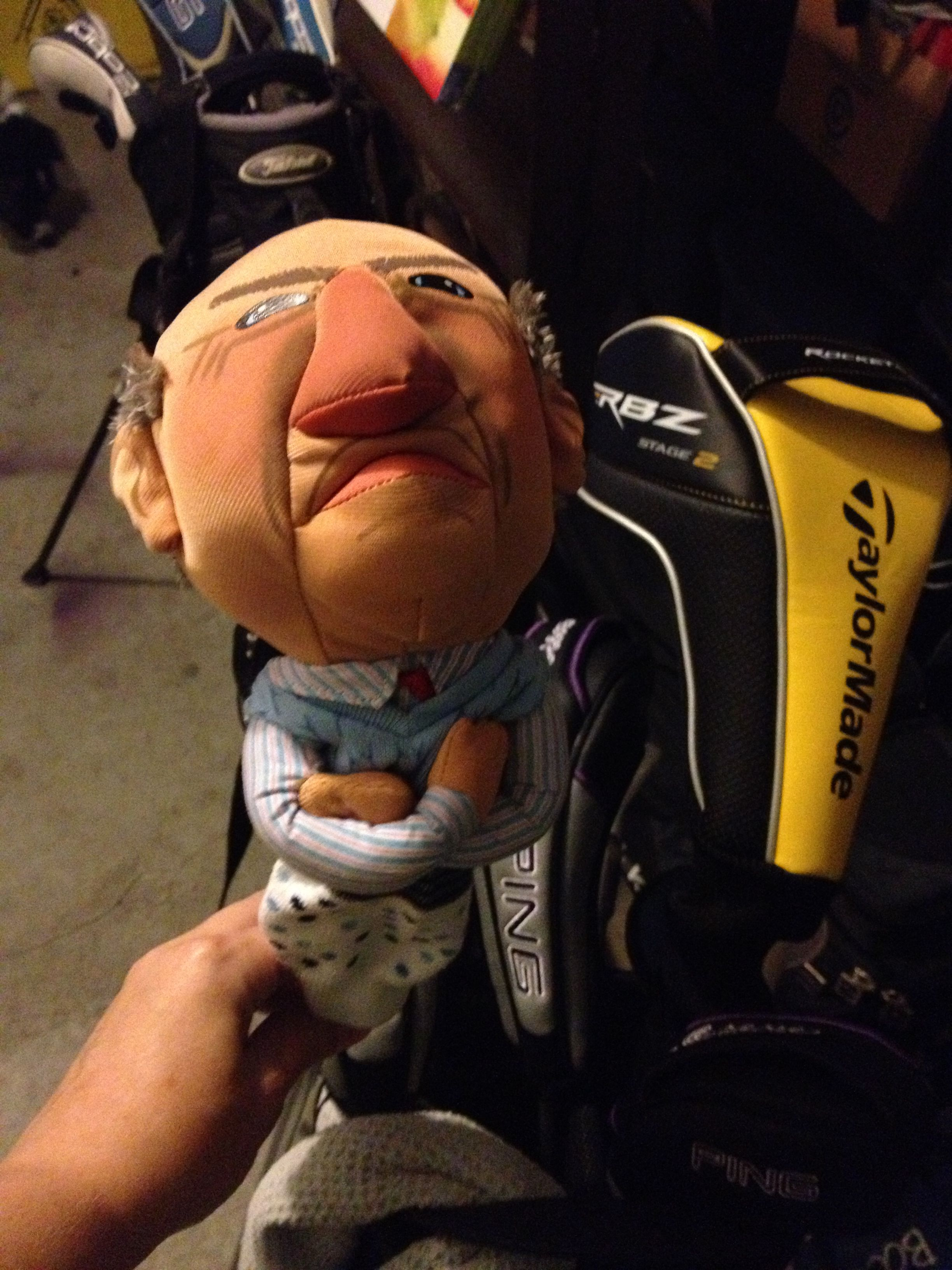 Golf Club Headcover Made From A Plush Doll This One Is Walter From Jeff Dunham S Puppet Comedy Act A Doll A Sock Golf Clubs Jeff Dunham Puppets Plush Dolls